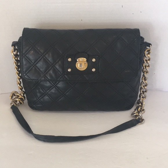2ce6e0a58746 Marc Jacobs Bags | Black Quilted Large Single Shoulderbag | Poshmark